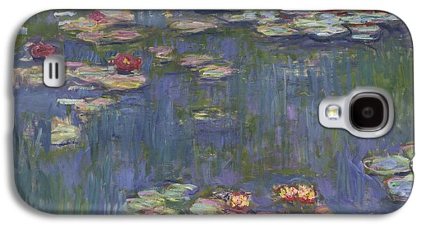 Historical Paintings Galaxy S4 Cases - Water Lilies Galaxy S4 Case by Claude Monet
