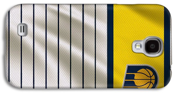 Pacers Galaxy S4 Cases - Indiana Pacers Uniform Galaxy S4 Case by Joe Hamilton