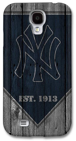 Barn Doors Galaxy S4 Cases - New York Yankees Galaxy S4 Case by Joe Hamilton