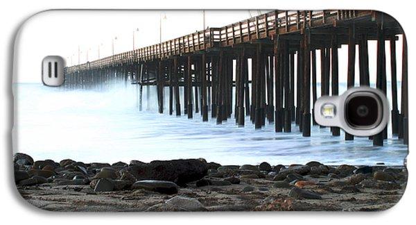 Aquatic Pastels Galaxy S4 Cases - Ocean Wave Storm Pier Galaxy S4 Case by Henrik Lehnerer
