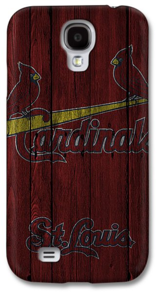 Gloves Galaxy S4 Cases - St Louis Cardinals Galaxy S4 Case by Joe Hamilton