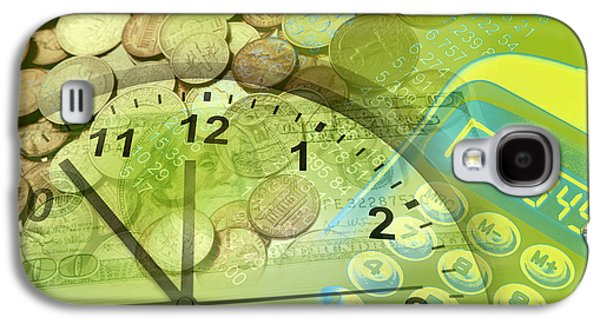 Coins Photographs Galaxy S4 Cases - Time is money  Galaxy S4 Case by Les Cunliffe