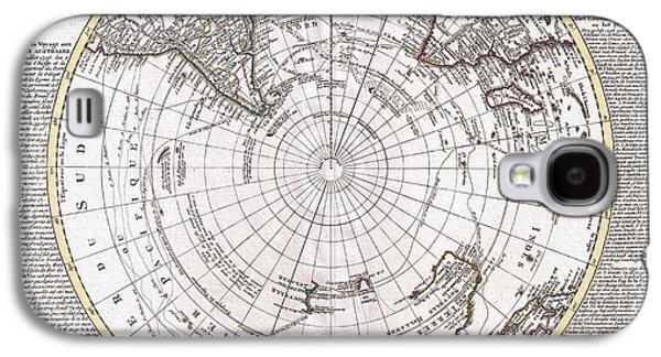 Captains Quarters Galaxy S4 Cases - 1741 Covens and Mortier Map of the Southern Hemisphere South Pole Antarctic Galaxy S4 Case by Paul Fearn