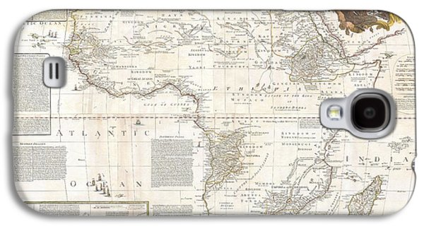 Recently Sold -  - Slaves Galaxy S4 Cases - 1787 Boulton  Sayer Wall Map of Africa Galaxy S4 Case by Paul Fearn