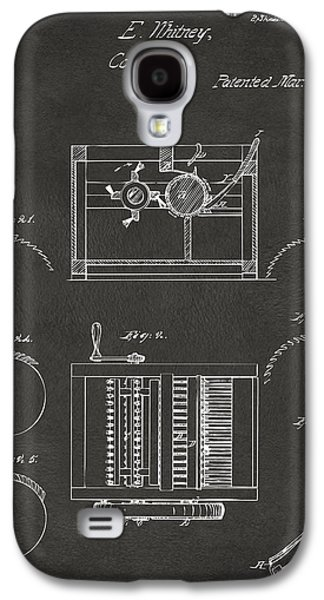 1794 Eli Whitney Cotton Gin Patent Gray Galaxy S4 Case by Nikki Marie Smith