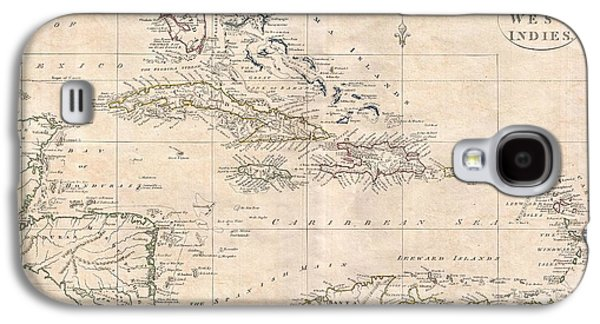 1799 Clement Cruttwell Map Of West Indies Galaxy S4 Case by Paul Fearn