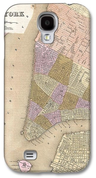 Original Photographs Galaxy S4 Cases - 1839 Bradford Map of New York City Galaxy S4 Case by Paul Fearn