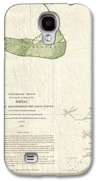 1846 Us Coast Survey Map Of Nantucket  Galaxy S4 Case by Paul Fearn