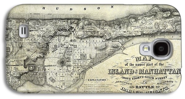 Manhattan Street Galaxy S4 Cases - 1868 Map of Manhattan Galaxy S4 Case by Jon Neidert