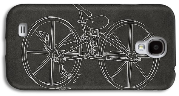 1869 Velocipede Bicycle Patent Artwork - Gray Galaxy S4 Case by Nikki Marie Smith