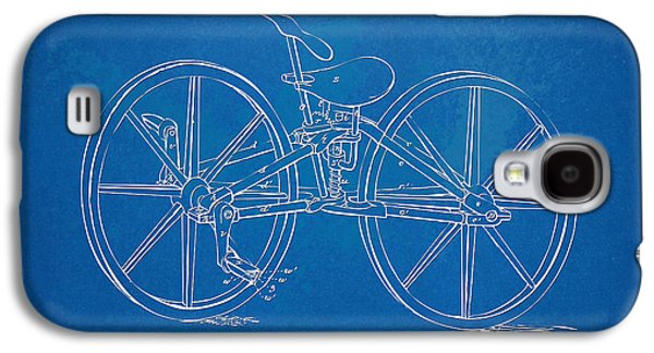 1869 Velocipede Bicycle Patent Blueprint Galaxy S4 Case by Nikki Marie Smith