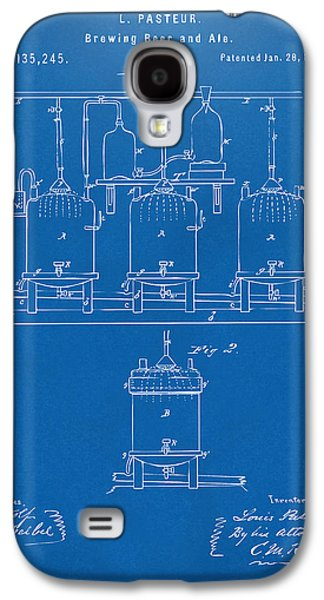 1873 Brewing Beer And Ale Patent Artwork - Blueprint Galaxy S4 Case by Nikki Marie Smith