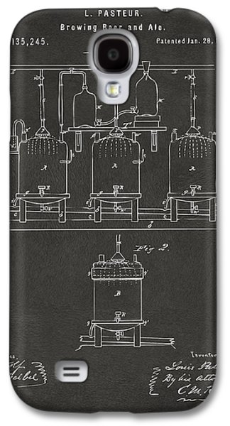 1873 Brewing Beer And Ale Patent Artwork - Gray Galaxy S4 Case by Nikki Marie Smith