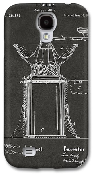 1873 Coffee Mills Patent Artwork Gray Galaxy S4 Case by Nikki Marie Smith