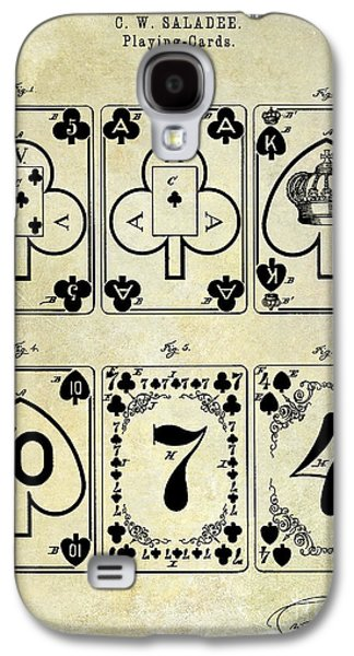 Playing Photographs Galaxy S4 Cases - 1877 Playing Cards Patent Drawing  Galaxy S4 Case by Jon Neidert
