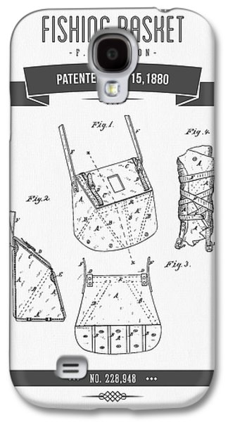 Technical Mixed Media Galaxy S4 Cases - 1880 Fishing Basket patent Drawing Galaxy S4 Case by Aged Pixel