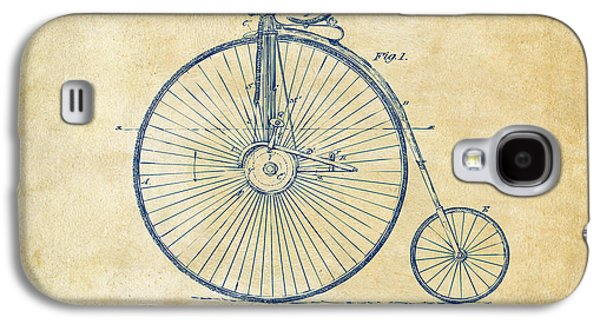 Engineer Galaxy S4 Cases - 1881 Velocipede Bicycle Patent Artwork - Vintage Galaxy S4 Case by Nikki Marie Smith