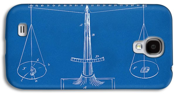 Equality Galaxy S4 Cases - 1885 Balance Weighing Scale Patent Artwork Blueprint Galaxy S4 Case by Nikki Marie Smith