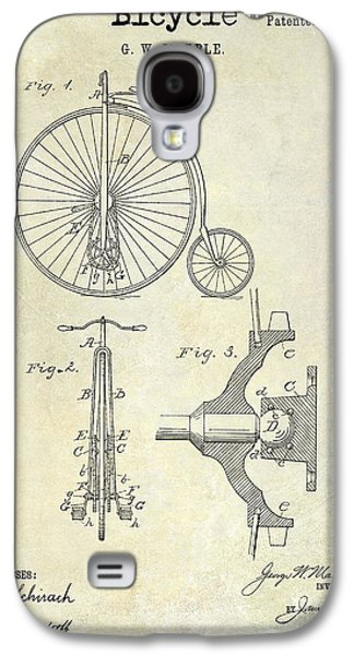 Bicycle Photographs Galaxy S4 Cases - 1885 Bicycle Patent Drawing  Galaxy S4 Case by Jon Neidert