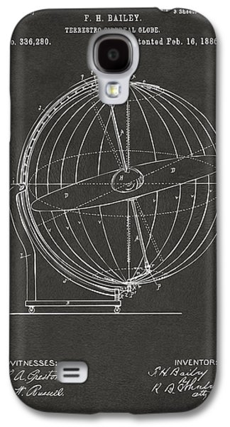 1886 Terrestro Sidereal Globe Patent 2 Artwork - Gray Galaxy S4 Case by Nikki Marie Smith