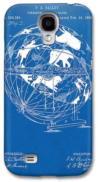 1886 Terrestro Sidereal Globe Patent Artwork - Blueprint Galaxy S4 Case by Nikki Marie Smith