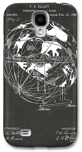 1886 Terrestro Sidereal Globe Patent Artwork - Gray Galaxy S4 Case by Nikki Marie Smith