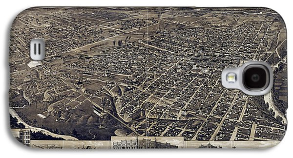 Carter House Galaxy S4 Cases - 1886 Vintage Map of Fort Worth Galaxy S4 Case by Stephen Stookey