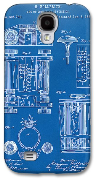 Punch Galaxy S4 Cases - 1889 First Computer Patent Blueprint Galaxy S4 Case by Nikki Marie Smith