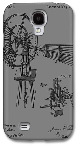 Development Mixed Media Galaxy S4 Cases - 1889 Windmill Patent Galaxy S4 Case by Dan Sproul