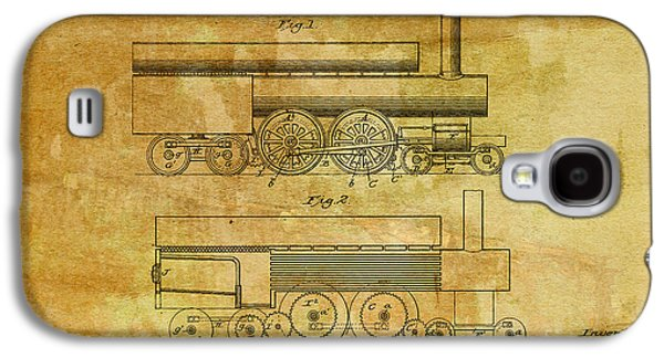 Historic Home Drawings Galaxy S4 Cases - 1890 Baird Locomotive Engine Patent Art 2 Galaxy S4 Case by Nishanth Gopinathan