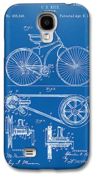 Cave Digital Galaxy S4 Cases - 1890 Bicycle Patent Artwork - Blueprint Galaxy S4 Case by Nikki Marie Smith