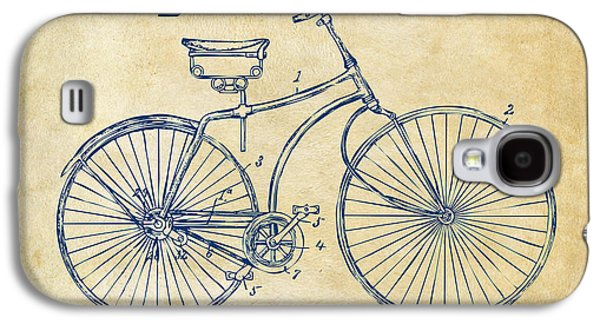 Pieces Galaxy S4 Cases - 1890 Bicycle Patent Minimal - Vintage Galaxy S4 Case by Nikki Marie Smith