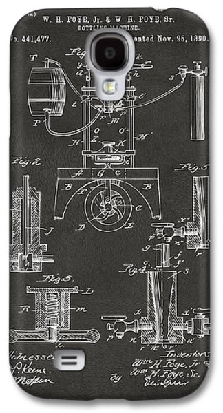 1890 Bottling Machine Patent Artwork Gray Galaxy S4 Case by Nikki Marie Smith