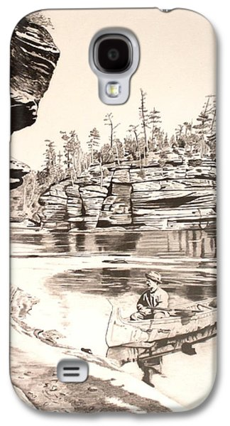 Canoe Drawings Galaxy S4 Cases - 1890 Bounty Hunters Galaxy S4 Case by Randy Mitchell