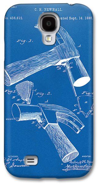 Hammer Galaxy S4 Cases - 1890 Hammer Patent Artwork - Blueprint Galaxy S4 Case by Nikki Marie Smith