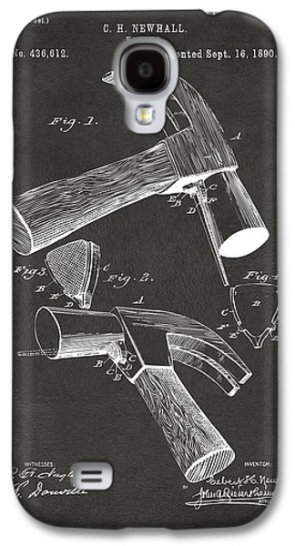 Hammer Galaxy S4 Cases - 1890 Hammer Patent Artwork - Gray Galaxy S4 Case by Nikki Marie Smith