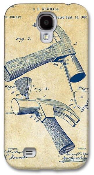 Hammer Galaxy S4 Cases - 1890 Hammer Patent Artwork - Vintage Galaxy S4 Case by Nikki Marie Smith