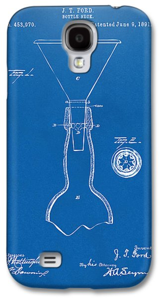 1891 Bottle Neck Patent Artwork Blueprint Galaxy S4 Case by Nikki Marie Smith