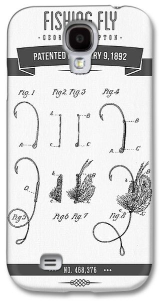 Technical Mixed Media Galaxy S4 Cases - 1892 Fishing Fly patent Drawing Galaxy S4 Case by Aged Pixel