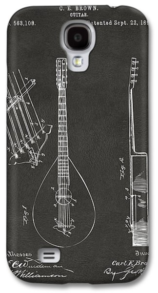 Celebrities Digital Art Galaxy S4 Cases - 1896 Brown Guitar Patent Artwork - Gray Galaxy S4 Case by Nikki Marie Smith