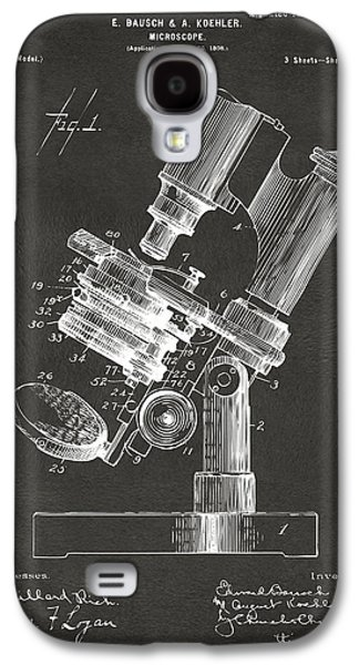 1899 Microscope Patent Gray Galaxy S4 Case by Nikki Marie Smith
