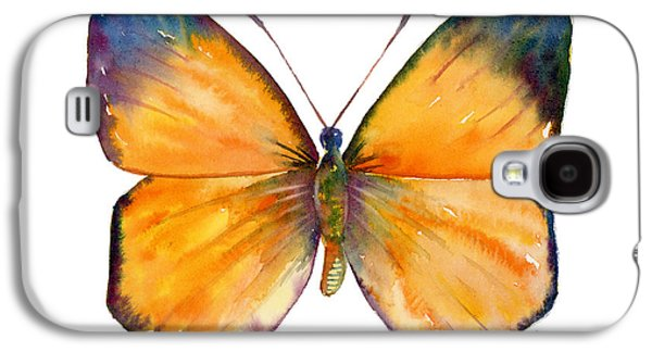Moth Paintings Galaxy S4 Cases - 19 Delias Anuna Butterfly Galaxy S4 Case by Amy Kirkpatrick