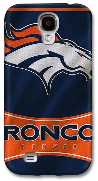 Recently Sold -  - Sports Photographs Galaxy S4 Cases - Denver Broncos Uniform Galaxy S4 Case by Joe Hamilton