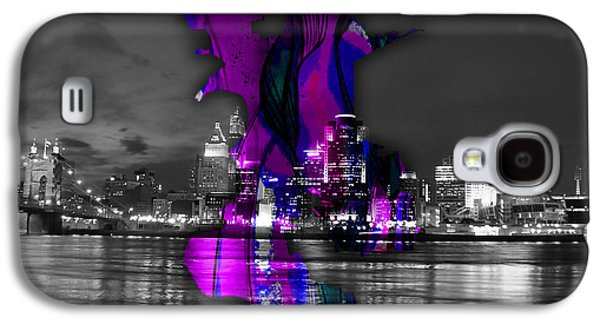 California Galaxy S4 Cases - Sacramento Map and Skyline Watercolor Galaxy S4 Case by Marvin Blaine
