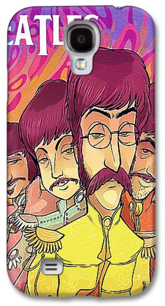 Beatles Galaxy S4 Cases - The Beatles Band Galaxy S4 Case by Victor Gladkiy