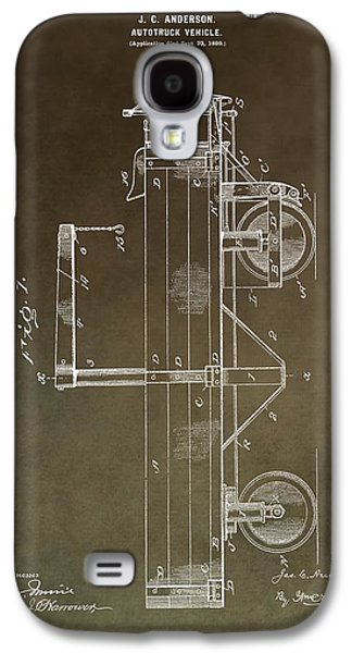 Mechanics Mixed Media Galaxy S4 Cases - 1900 Truck Patent Galaxy S4 Case by Dan Sproul