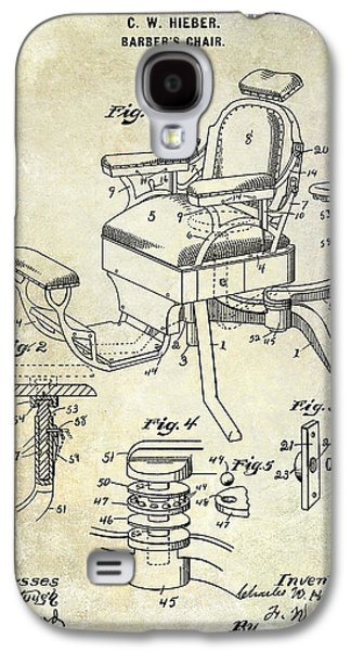 Chair Drawings Galaxy S4 Cases - 1901 Barber Chair Patent Drawing  Galaxy S4 Case by Jon Neidert
