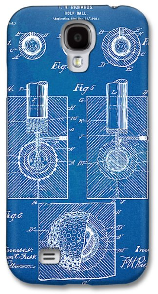 Playing Digital Art Galaxy S4 Cases - 1902 Golf Ball Patent Artwork - Blueprint Galaxy S4 Case by Nikki Marie Smith