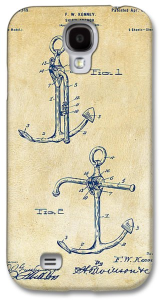 Historic Ship Galaxy S4 Cases - 1902 Ships Anchor Patent Artwork - Vintage Galaxy S4 Case by Nikki Marie Smith