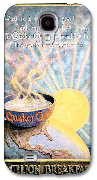 1906 - Quaker Oats Cereal Advertisement - Color Galaxy S4 Case by John Madison